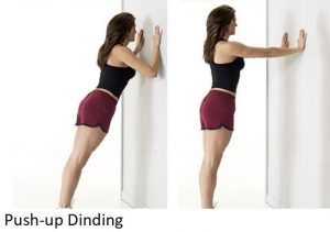 push ups dinding